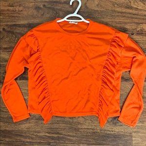 Chole & Katie Long Sleeve orange small long sleeve